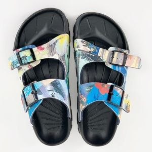 Birkie's by Birkenstock Hawaii Print Surf Sandals
